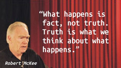 What happens is fact, not truth. Truth is what we think about what happens.
