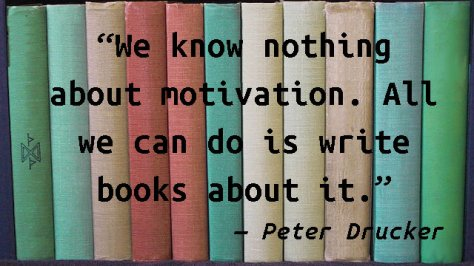 We know nothing about motivation. All we can do is write books about it.