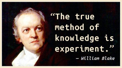 The true method of knowledge is experiment.
