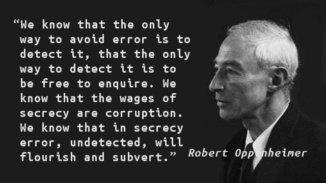 Oppenheimer Quote Enchanting Quote Of The Day  Yahooey's Blog