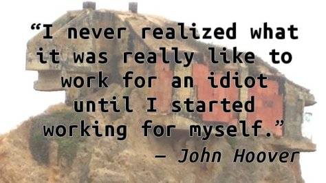 I never realized what it was really like to work for an idiot until I started working for myself.