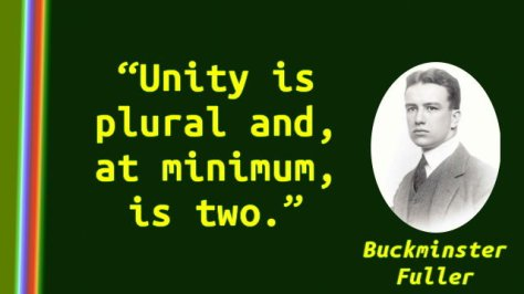 Unity is plural and, at minimum, is two.