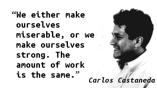 Carlos Castaneda Quotes Heart Quotesgram: Quote Of The Day