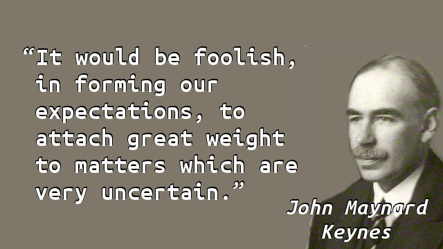 It would be foolish, in forming our expectations, to attach great weight to matters which are very uncertain.