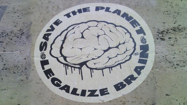 Save the Planet - Legalize Brain, October 2015, Le Marais, Paris 4th Arrondissement
