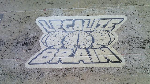 Legalize Brain, October 2015, Le Marais, Paris 4th Arrondissement