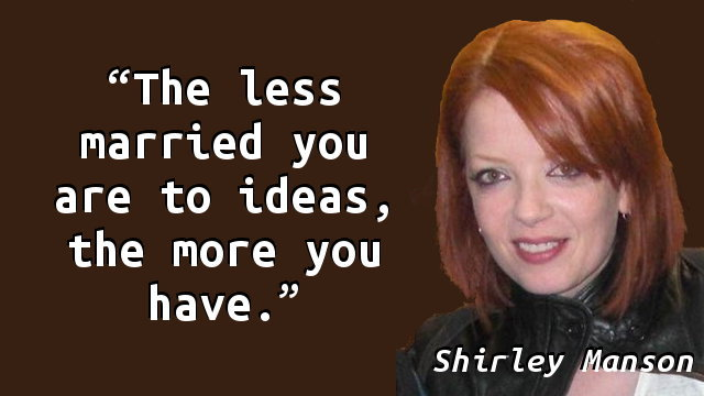 The less married you are to ideas, the more you have.