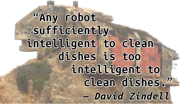 Any robot sufficiently intelligent to clean dishes is too intelligent to clean dishes.