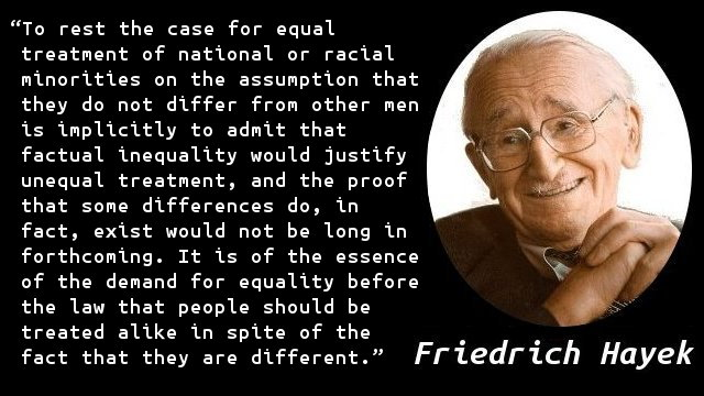 To rest the case for equal treatment of national or racial minorities on the assumption that they do not differ from other men is implicitly to admit that factual inequality would justify unequal treatment, and the proof that some differences do, in fact, exist would not be long in forthcoming. It is of the essence of the demand for equality before the law that people should be treated alike in spite of the fact that they are different.