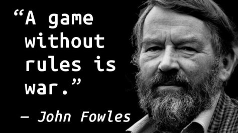 A game without rules is war.
