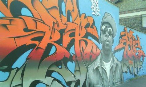 Street art, rue Germaine Tailleferre, Paris