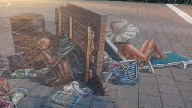 3d street art at the World Street Painting Festival in Arnhem, The Netherlands