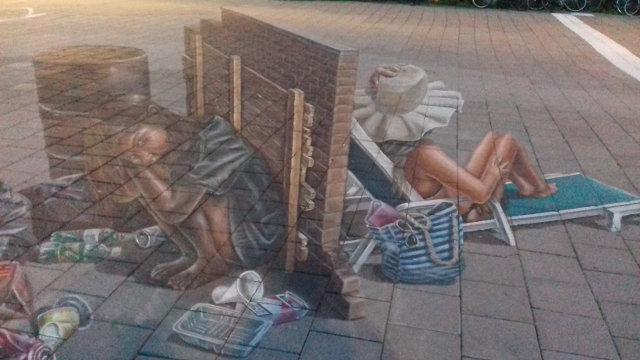 3d street art at the World Street Painting Festival in Arnhem, The Netherlands