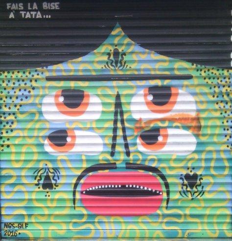 Street art, rue Mondétour, Paris