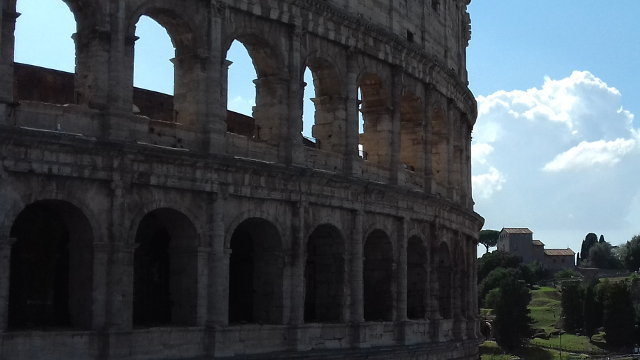 Coloseum and Palantine Hill, Rome