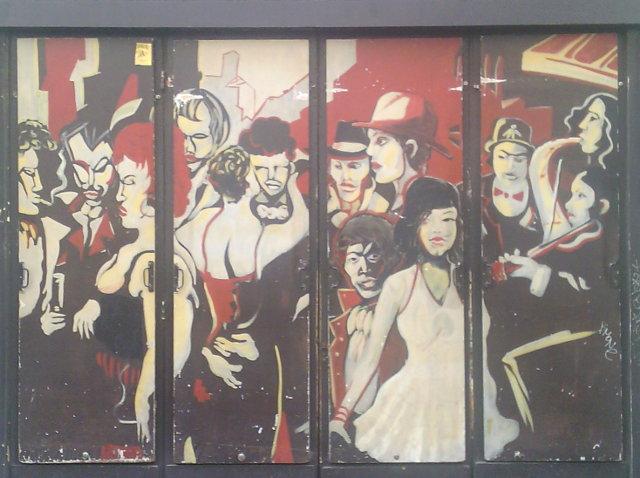Street art, rue de Lappe, Paris
