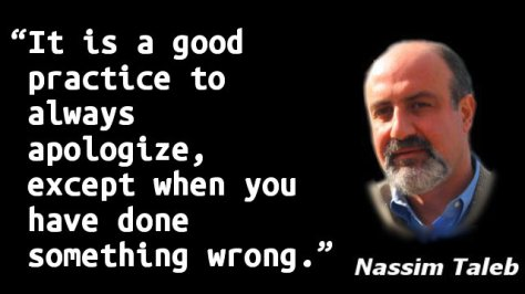 It is a good practice to always apologize, except when you have done something wrong.