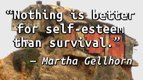 Nothing is better for self-esteem than survival.