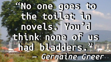 No one goes to the toilet in novels. You'd think none of us had bladders.