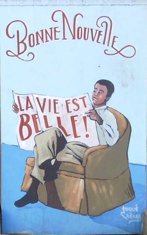 Street art, Boulevard de Belleville, Paris, France