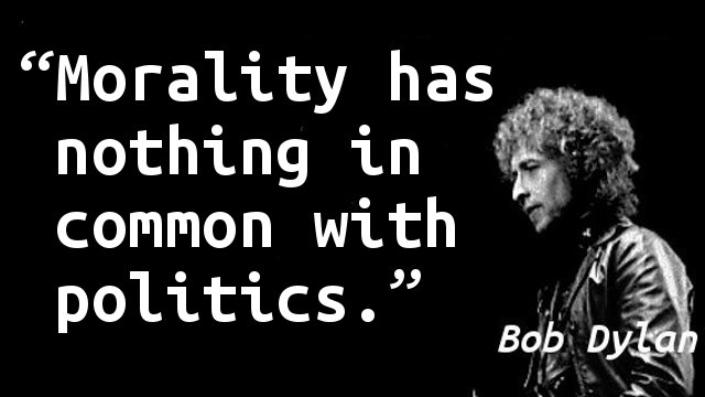 Morality has nothing in common with politics.