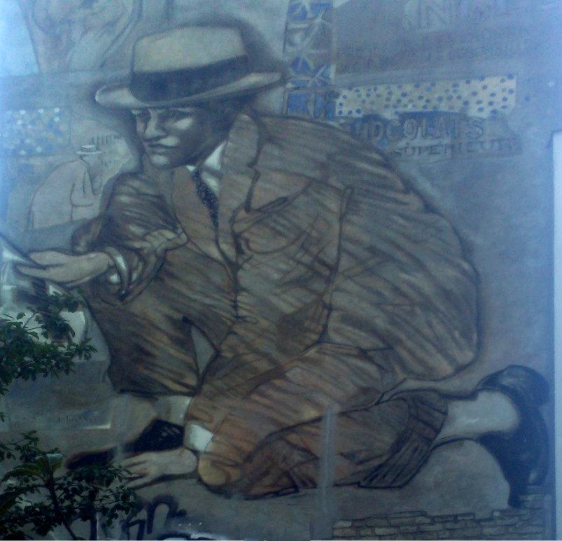 Street Art, Place Frehel, Paris 20ème, France