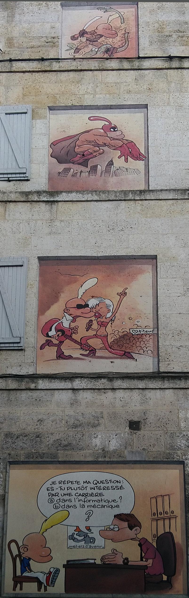 Street Art, 45 Boulevard Pasteur, Angoulême, France