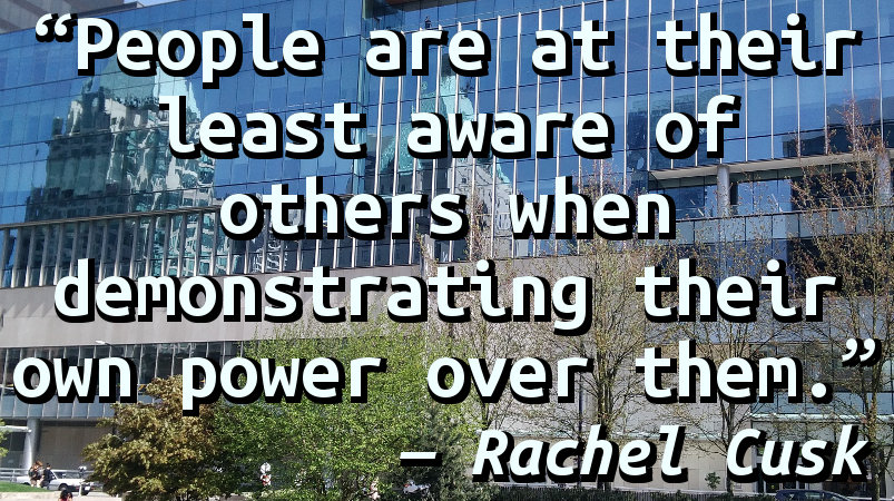 People are at their least aware of others when demonstrating their own power over them.