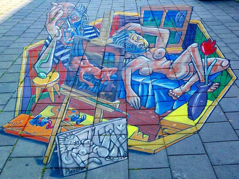 3D Street Art, Stationsplein, Arnhem, Netherlands