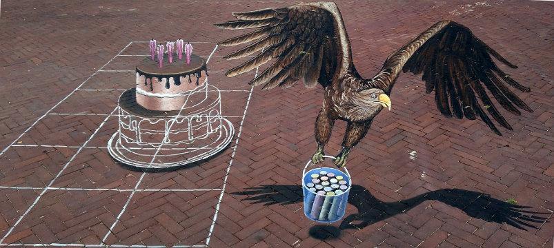 3D Street Art, Velperplein, Arnhem, Netherlands
