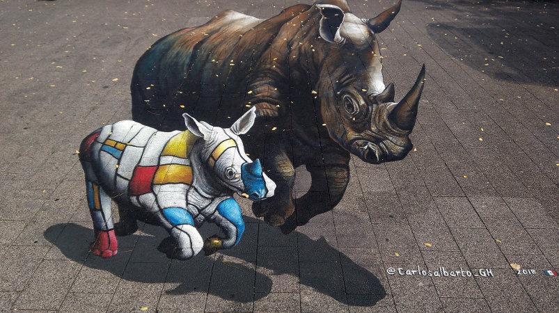 3D Street Art, Willemsplein, Arnhem, Netherlands