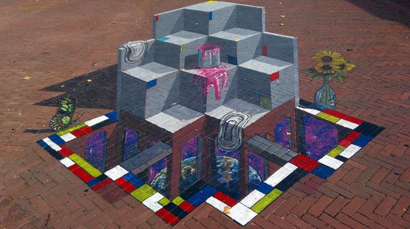 3D Street Art, Gele Rijdersplein, Arnhem, Netherlands