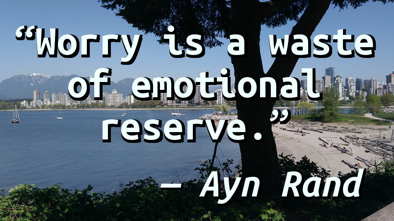 Worry is a waste of emotional reserve.