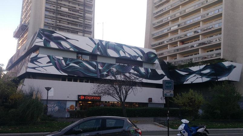 Street Art, 89 Boulevard Vincent Auriol, 13th Arrondissement, Paris, France