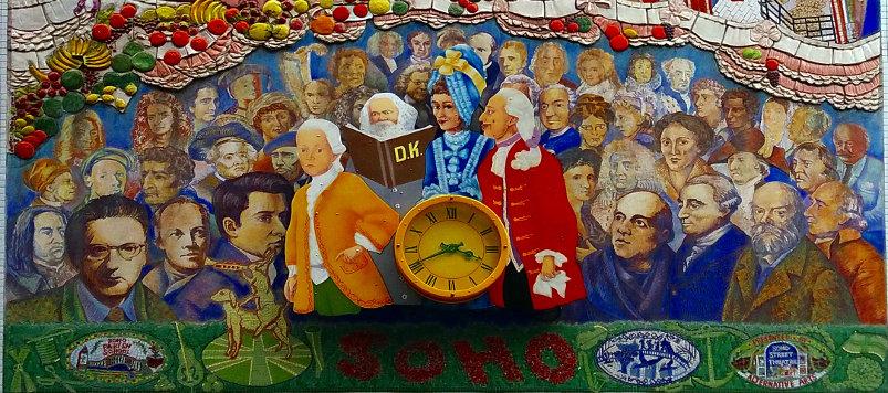 The Spirit of Soho - Center Panel, Broadway Street, London, England