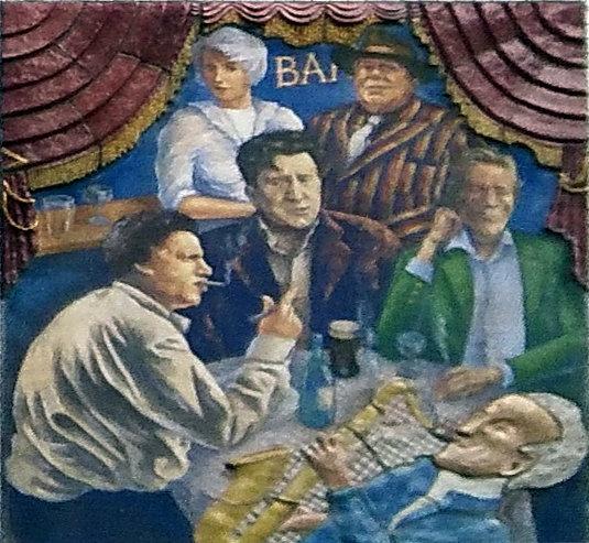 The Spirit of Soho - Right Panel, Broadway Street, London, England