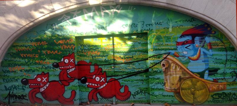 Street Art, Metro arcades, 159 boulevard Vincent Auriol, 13th Arrondissement, Paris, France