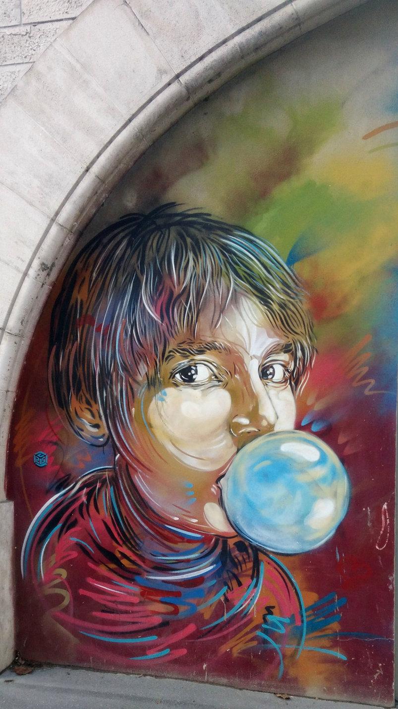 Street Art, Metro arcades, 155 boulevard Vincent Auriol, 13th Arrondissement, Paris, France