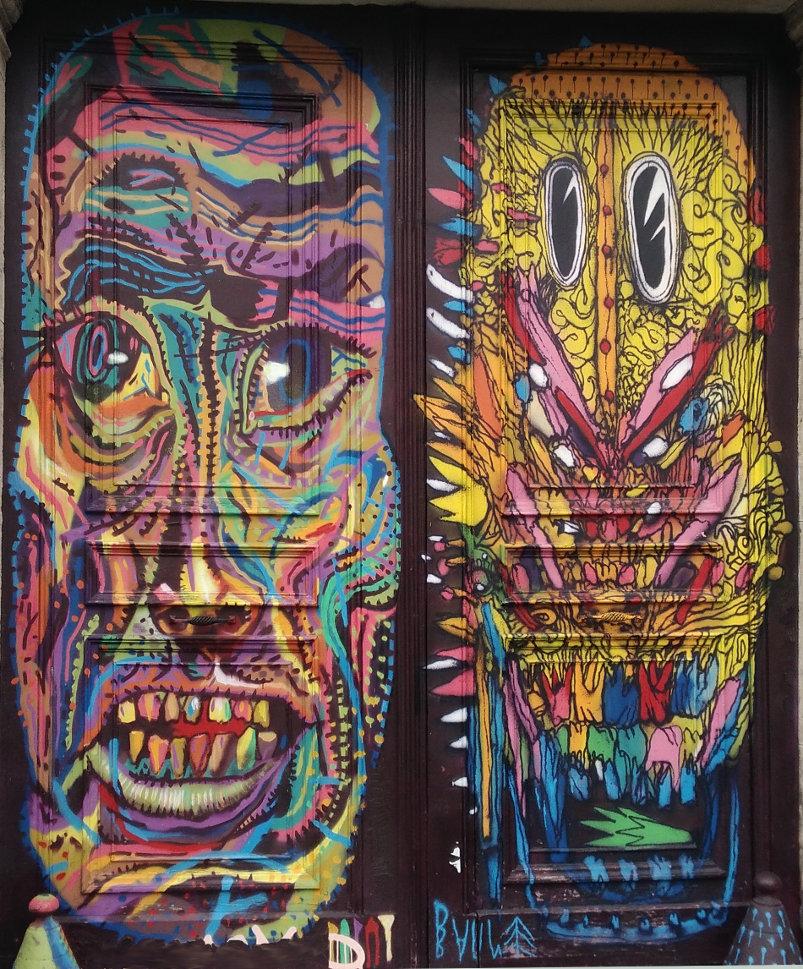 Street Art, 71 rue Oberkampf, 11th Arrondissement, Paris, France
