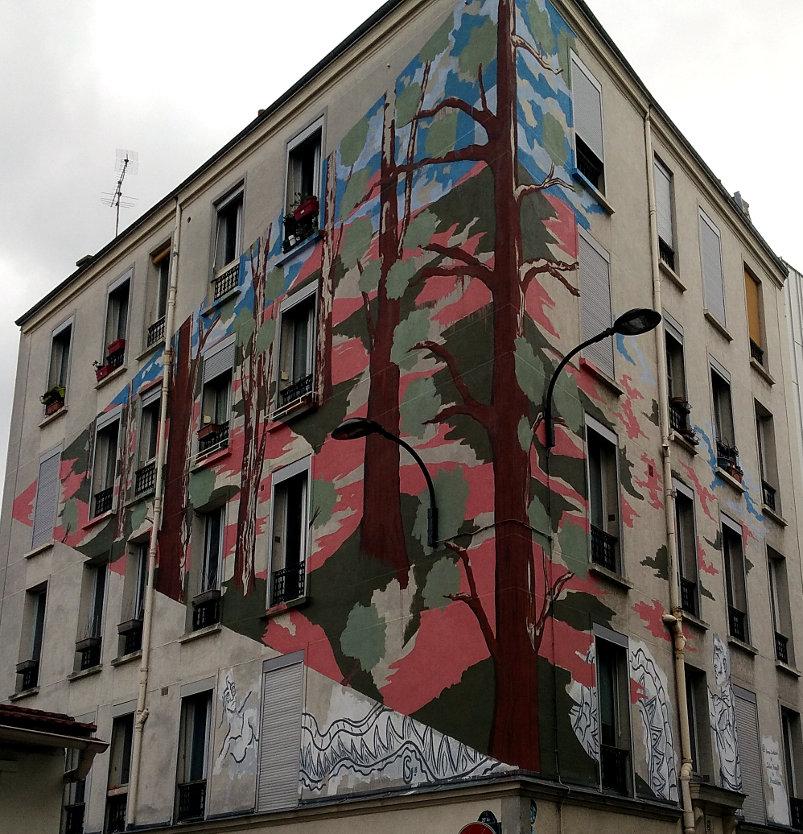Street Art, 21 rue du Retrait, 20th Arrondissement, Paris, France