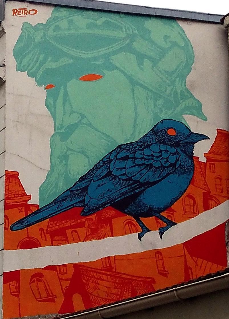 Street Art, 17 rue du Retrait, 20th Arrondissement, Paris, France