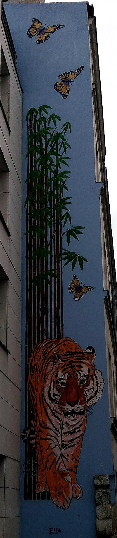 Street Art, 33 rue du Retrait, 20th Arrondissement, Paris, France