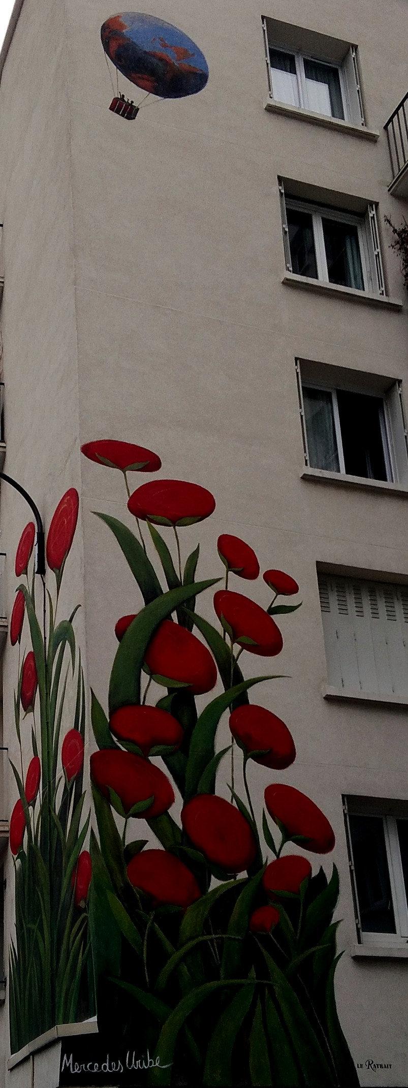 Street Art, 10 rue du Retrait, 20th Arrondissement, Paris, France