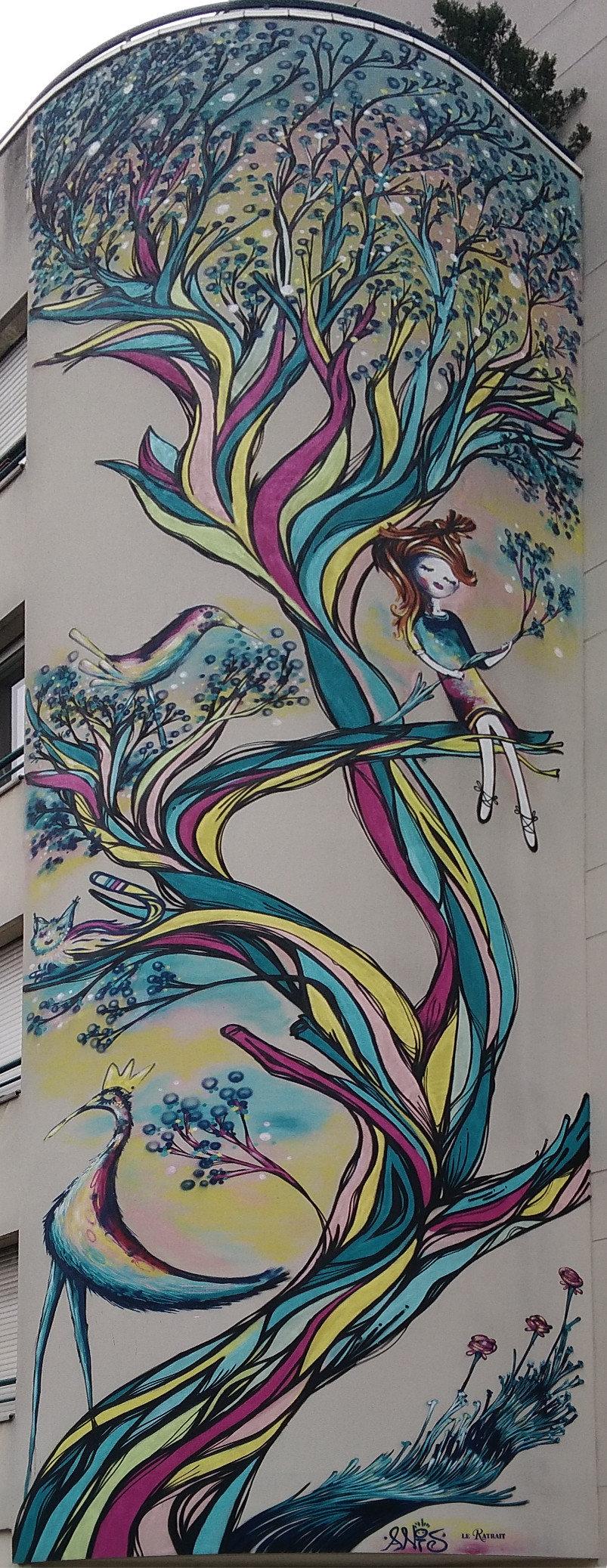 Street Art, 14 rue du Retrait, 20th Arrondissement, Paris, France