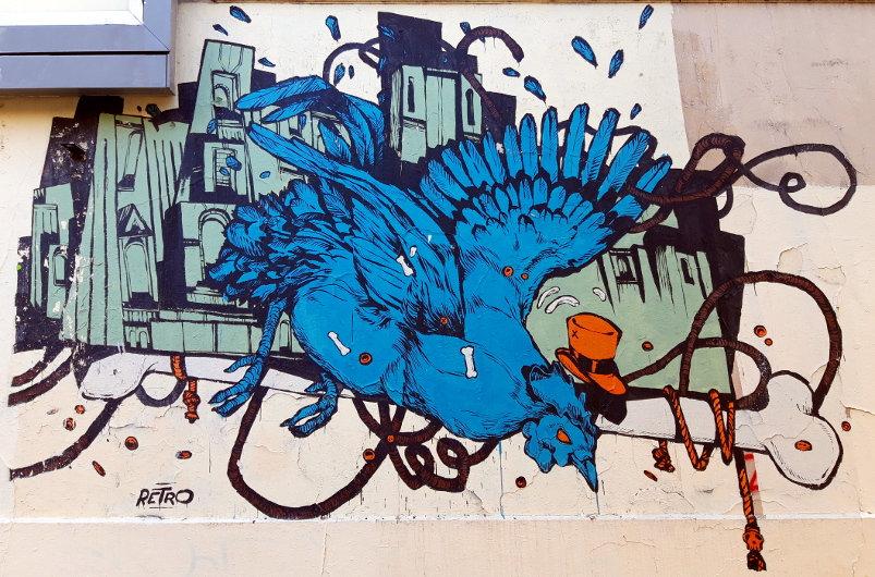 Street Art, Place de Ménilmontant, 20th Arrondissement, Paris, France