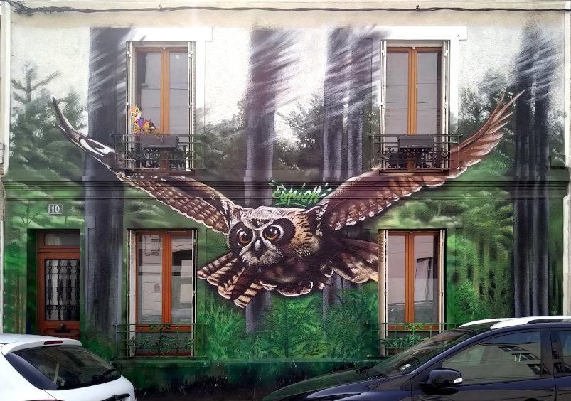 Street Art, 10 rue Barbès, Montreuil, France