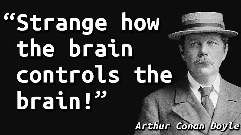 Strange how the brain controls the brain!