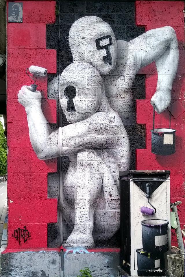 Street Art, 26 quai de la Marne, 19th Arrondissement, Paris, France