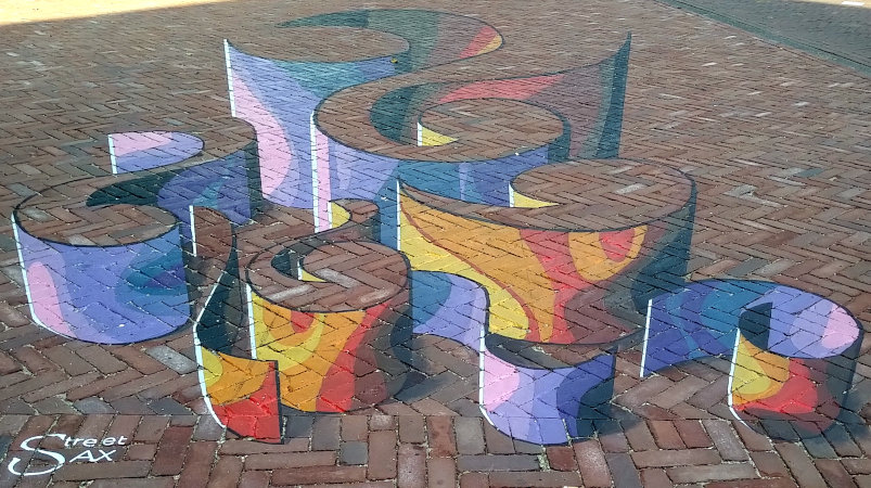 3d street art at the World Street Painting Festival 2019, August 26, 2019, Gele Rijdersplein, Arnhem, The Netherlands