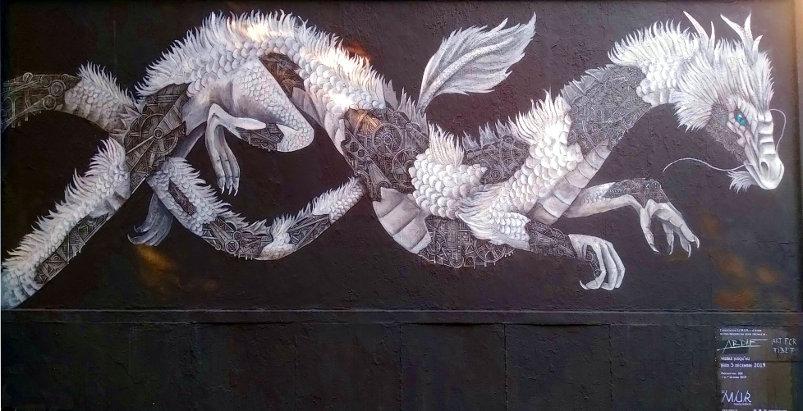 Street Art, 107 rue Oberkampf, 11th Arrondissement, Paris, France.